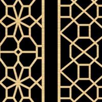 仿木纹铝格栅花格 中空窗铝合金防盗网