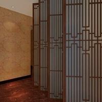 房屋改造中式铝窗花 质量保证广焊 铝方管花格 餐厅铝方管花格屏风