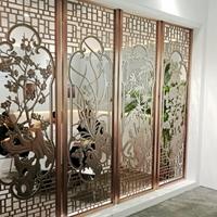 广州铝浮雕屏风装饰隔断-装饰型雕花铝屏风厂家
