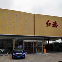 红旗汽车4S店铝蜂窝板-外墙金色蜂窝铝单板供应