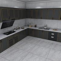 全铝合金家具橱柜 全铝合金橱柜门板 型材成批出售