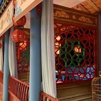 北京四合院装饰仿古木纹铝花格厂家供应