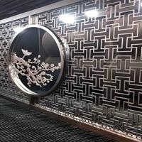 东莞艺术电镀浮雕铝屏风-背景墙雕花铝隔断厂家