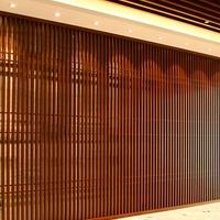 会议厅及室内吊顶木纹铝方通 U型铝方通吊顶