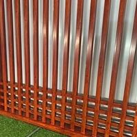 住宅小區外墻鋁格柵屏風鋁窗花加工定制