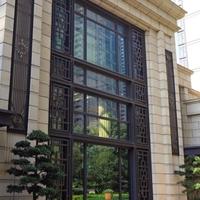 老北京博物馆装饰古风铝窗花生产