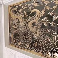 酒店装饰浮雕铝隔断屏风-仿古壁画背景墙铝板