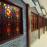 古风文化保护区铝窗花定制