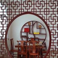 佛山古庙复古仿铝挂落,铝屏风,铝窗花定制厂家