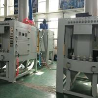 铝压铸汽车电池板输送喷砂机