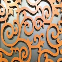生产铝窗花-铝挂落-铝方通-铝屏风-等铝材焊接而成的产品厂家