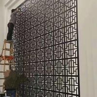 古建花格窗 冰裂造型铝花格窗 幕墙铝花格屏风 厂家定制广焊铝花格窗