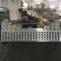 海南椰子木纹铝屏风供应厂家