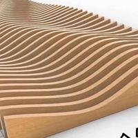 大波浪凹凸铝方通-背景墙弧形铝板