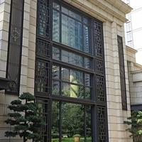 香港房山家裝木紋鋁窗花復古鋁窗花