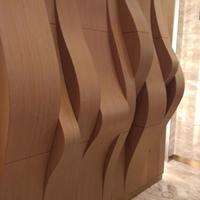 墙身波浪型铝方通-凹凸铝方通造型