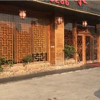 四會連廊鋁合金掛落 木紋鋁窗格生產廠家
