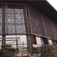 拜城博物館角花 木紋鋁窗格款式定制