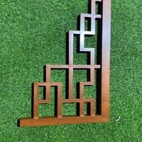 满洲里凉亭木纹铝挂落 木纹铝窗格工程价格