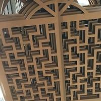 澳門延慶縣街道店面裝飾中式鋁窗花仿木紋鋁窗花廠家