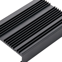 CNC车棚铝型材,散热器来图精加工