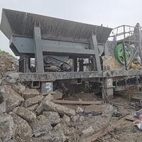 崇明200T/H建筑垃圾破碎生�a�投�a使用���月后的效果