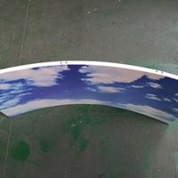 长廊蓝天白云吊顶-彩绘铝板