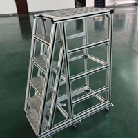 鋁型材工業踏步定做 車間橋架檢修平臺加工廠家澳宏鋁業