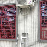 贤合庄火锅店铝格栅窗筑个性化装饰