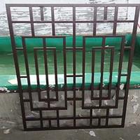 河北保定复古木纹铝窗花花格供应铝窗花批发价格是多少