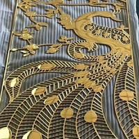 室内浮雕铝板背景墙隔断-雕花雕刻铝板屏风生产厂家