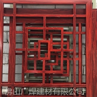 生产木纹铝窗花工厂 仿古铝格栅 木纹铝窗花广焊定制