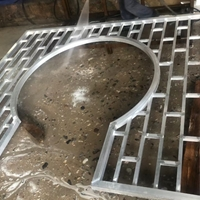 广东佛山仿古木纹铝窗花铝花格生产厂家