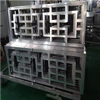 天水出口  定制铝花格 改造铝窗花 厂家供应