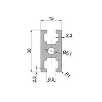 工业铝型材国标1530铝型材 门窗铝材导轨铝合金型材