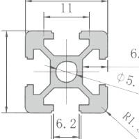 欧标工业铝合金型材2020铝型材光伏支架铝合金方管机架型材鱼缸架