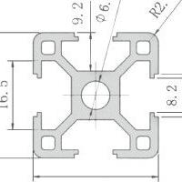 欧标3030铝型材3030标准型工业铝合金3030L支架铝材流水线框架用