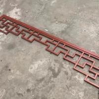 新农村改造中式木纹铝花格 门头氟碳铝挂落