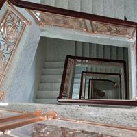 雕花铜艺镂空楼梯扶手来图定制