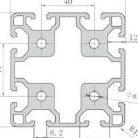 岩鸽铝制品8080铝型材框架立柱 80x80工业铝材厂家直销 免费切割