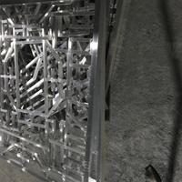 中式铝花格 木纹铝格栅 铝窗花厂家直销