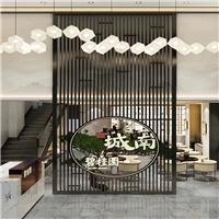肇庆艺术馆 木纹铝窗花 新型仿古铝窗花 新中式铝花格