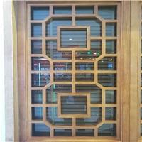 信阳卡拉OK厅 改造幕墙木纹铝窗花 门头装饰铝窗花