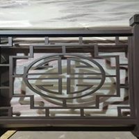 穆棱小区 木纹铝窗花 生产铝窗花厂家 铝拱门 花格铝屏风