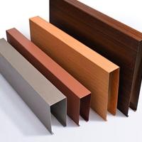 铝方通颜色 吊顶铝方通定制 木纹转印方通