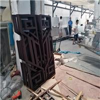 扬州文化宫 港式铝窗花 古典创意风格木纹铝窗花厂