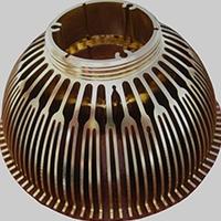 LED灯散热器金色氧化铝型材加工生产