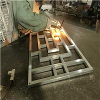 木纹铝花格 木纹窗户装饰厂家批发价
