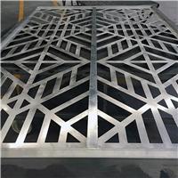 新密河边游廊 木纹铝窗花 铝花格隔断厂家