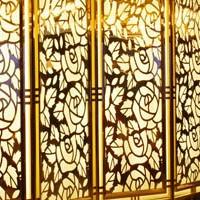 不一样的铝屏风工艺展示不一样的装饰效果